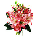 Elegant Silk Lily With Chiffon Decoration Round Wedding Bouquet/ Bridal Bouquet