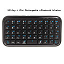 De 49 touches sans fil rechargeable mini-clavier qwerty bluetooth pour ipad/iphone4g/3g/3gs