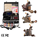 damas de premire qualit fabriqus  la main tatouage 3 machines kit avec alimentation suprieure conduit (ly192)
