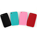 Silicone Protective Case for iPhone 4 - Grid (4 Colors Per Pack) 2#