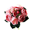 Elegant Silk Rose With Chiffon Decoration Round Wedding Bouquet /Bridal Bouquet