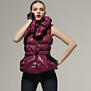 Sleeveless Special Design Lapel With Belt Coat / Women's Coats (FF-B-BK0736202)