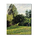 Stretched Handmade Apple Trees,Sunset,Eragny Painting  by Camille Pissarro (0192-YCF103895)