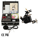 Tattoo Kit Pro 1 Guns Power Tip Needles Skin Ink Supply
