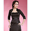  3/4-length Sleeves Satin Special Occasion Jacket/ Wedding Wrap