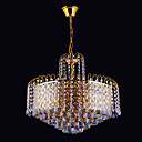 13-light Gold Color Bright Chrome K9 Crystal Chandelier (1069-J9865-D13)