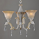 3-light Enamel Paint European Style Chandelier (0835-CH031-3)