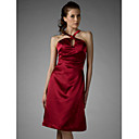 Sheath/ Column Halter Knee-length Taffeta Bridesmaid/ Wedding Party/ Homecoming Dress (HSX151)