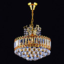 6-light Gold Color Bright Chrome K9 Crystal Chandelier (1069-J9866-D6)