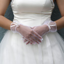 Bridal Lace/ Voile Fingertips Wrist Length Gloves