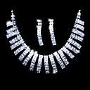Shining Rhinestones Alloy Plated Wedding Bridal Jewelry Set