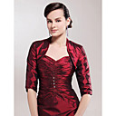 Half Sleeves Taffeta Special Occasion Jacket/ Wedding Wrap
