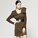 Shoulder Special Design With Belt Dress / Women's Dresses (FF-D-CA1270012)