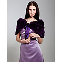 Faux Fur With Sashes/ Ribbons Special Occasion Shawl