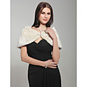 Sleeveless Faux Fur Bridal Wedding Jacket/Shawls