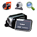 vivikai 5MP CMOS 8x digitale zoom digitale video camera met 3,0 inch TFT LCD-scherm mp3 functie PC-camera (hd-768)