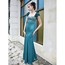 Trumpet/ Mermaid Sweetheart Floor-length Matte Satin Evening/ Prom Dress