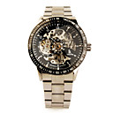 Stainless Steel Band Auto Mechanical Wrist Watch Black