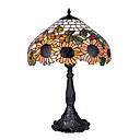 16 Inch Tiffany-style Daisy Pattern Table Lamp (0835-G161556)