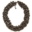 Two-way Wearing Double Layered Beads Necklace / Women's Necklace (FF-Z-CC1306001)