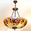 20 Inch Tiffany-style Floral Inverted  Natural shell Material Pendant Light (0835-D8025)