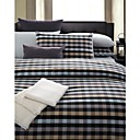 Yarn-dyed Cotton Satin 3-piece Queen Duvet Cover Set