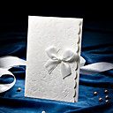 Delicate Embossed Wedding Invitation With Satin Bow (Set of 50)