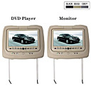 1 Pair 9 Inch LCD Headrest DVD Player + Monitor with Gaming System, FM Transmitter and FREE Headphones
