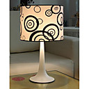Table Light with Circle Patterned Lampshade
