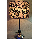 Table Light with Black Floral Patterned Lampshade