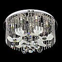 Gorgeous Artistic 8-Light Crystal Drop Flush Mount Floral Featured