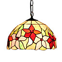 Tiffany Style Elegant Inverted Bowl shaped Stained Glass Pendant Light
