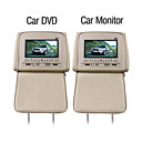 7 Inch Car DVD Player and Monitor with Game Free Headphones (1 Pair)