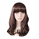 Capless Long Top Grade Quality Synthetic Chocolate Brown Curly Hair Wig