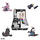 Professional Tattoo Kit With 4 Guns LCD Power Supply 40 Color Ink
