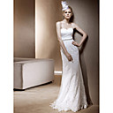 Sheath/ Column Sweetheart Floor-length Lace Wedding Dress