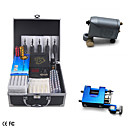 2 Rotary Tattoo Machine Gun Kit with LCD Power and 40 Color Ink