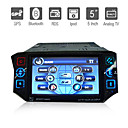 Autoradio DVD 1 DIN / Schermo 5&quot; / GPS / Compatibile con iPod / Bluetooth / Funzione TV / Radio RDS / Frontalino estraibile