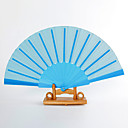 Light Sky Blue Silk Hand Fans (set of 6)