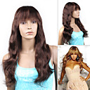 "Beyonce's Fashionable Style Custom Full Lace Natural Wave 16"" Indian Remy Hair with Bang - 26 Colors To Choose"