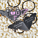 Personalized Key Ring - Angel Heart (set of 6 pairs)