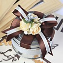 Round Favor Tin With Chocolate Ribbon (Set of 6)
