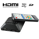 hd mini-jogador multi-media para tv, suporte USB, carto SD e HD, sada HDMI