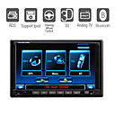 "abnehmbaren Panel 7 ""Digital-Display 2 DIN In-Dash-Auto-DVD-3D-Benutzeroberfläche Digi-Radio-TV-Bluetooth-ipod-Lenkradfernbedienung-7006s (szc3057)"