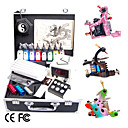 Complete Set Tattoo Kits With 3 Tattoo Guns Of Super Design LCD Power