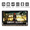 7 Inch Digital Touchscreen Car DVD Player with TV GPS Bluetooth  RDS