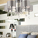40W Crystal Chandelier with 5 Lights - Fabric Lampshade