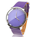 Fashionable Quartz Wrist Watch with Purple PU Band