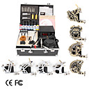 8 Guns Tattoo Kit with LCD Power and 7 Color Ink