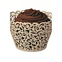 Ivory Laser Cut Cupcake Holders (Set of 12)